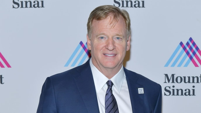 NEW YORK, NEW YORK - NOVEMBER 06: Commissioner, NFL, Roger Goodell attends 2019 Mount Sinai Prostate Cancer Research Gala at Cipriani 42nd Street on November 06, 2019 in New York City. (Photo by Roy Rochlin/Getty Images for Mount Sinai Health System)