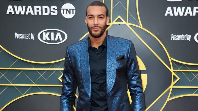 SANTA MONICA, CALIFORNIA - JUNE 24: Rudy Gobert attends the 2019 NBA Awards presented by Kia at Barker Hangar on June 24, 2019 in Santa Monica, California. (Photo by Joe Scarnici/Getty Images for Turner Sports)