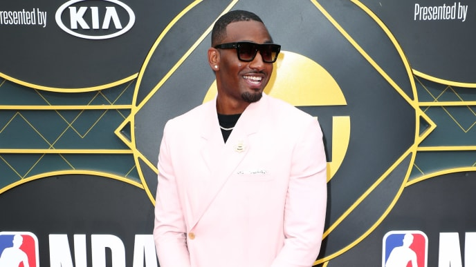 SANTA MONICA, CALIFORNIA - JUNE 24: John Wall attends the 2019 NBA Awards presented by Kia on TNT at Barker Hangar on June 24, 2019 in Santa Monica, California. (Photo by Joe Scarnici/Getty Images for Turner Sports)
