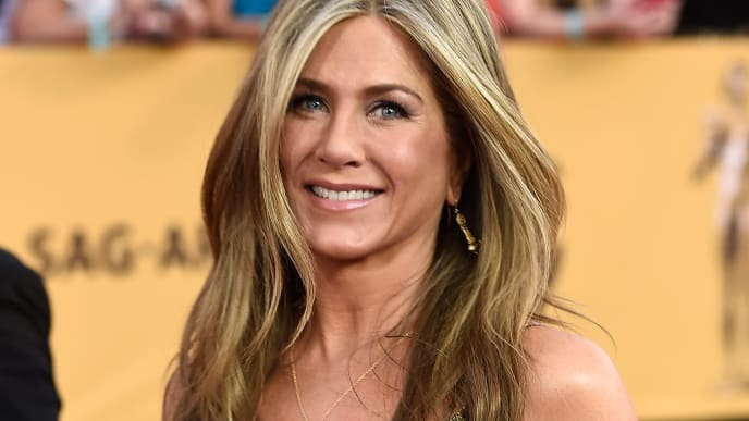 LOS ANGELES, CA - JANUARY 25:  Actress Jennifer Aniston attends the 21st Annual Screen Actors Guild Awards at The Shrine Auditorium on January 25, 2015 in Los Angeles,California.  (Photo by Frazer Harrison/Getty Images)