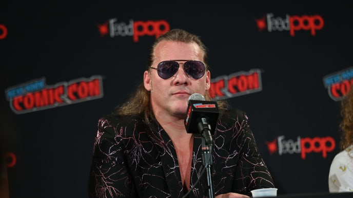 NEW YORK, NEW YORK - OCTOBER 04: Chris Jericho attends the All Elite Wrestling panel during 2019 New York Comic Con at Jacob Javits Center on October 04, 2019 in New York City. (Photo by Noam Galai/Getty Images for WarnerMedia Company)