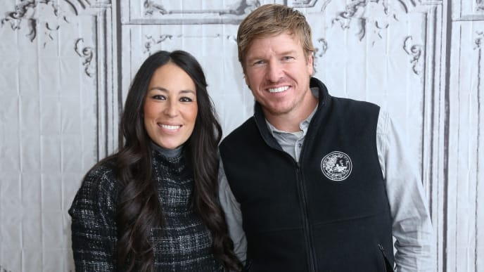 "NEW YORK, NY - DECEMBER 08:  Real estate pros Chip Gaines (R) and Joanna Gaines attend AOL Build Presents: ""Fixer Upper"" at AOL Studios In New York on December 8, 2015 in New York City.  (Photo by Rob Kim/Getty Images)"