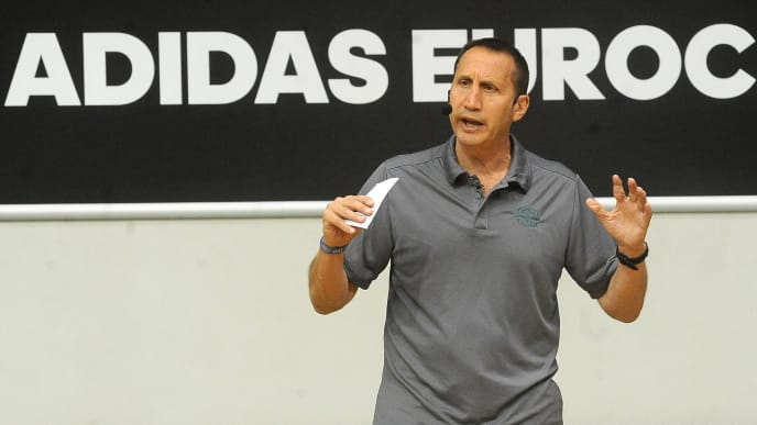 TREVISO, ITALY - JUNE 11:  Former NBA coach David Blatt attends the Adidas Eurocamp Day Two at La Ghirada sports center on June 11, 2016 in Treviso, Italy.  (Photo by Roberto Serra/Iguana Press/Getty Images for Adidas)