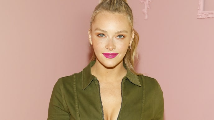 NEW YORK, NEW YORK - SEPTEMBER 09: Camille Kostek attends the Alice + Olivia by Stacey Bendet arrivals during New York Fashion Week: The Shows on September 09, 2019 in New York City. (Photo by Paul Morigi/Getty Images for NYFW: The Shows)