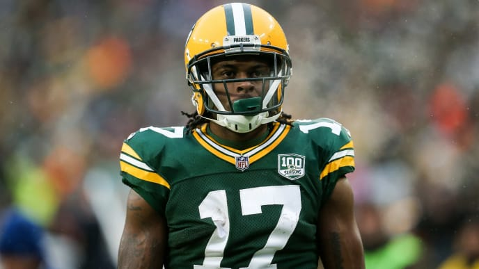 GREEN BAY, WISCONSIN - DECEMBER 02:  Davante Adams #17 of the Green Bay Packers looks on in the fourth quarter against the Arizona Cardinals at Lambeau Field on December 02, 2018 in Green Bay, Wisconsin. (Photo by Dylan Buell/Getty Images)