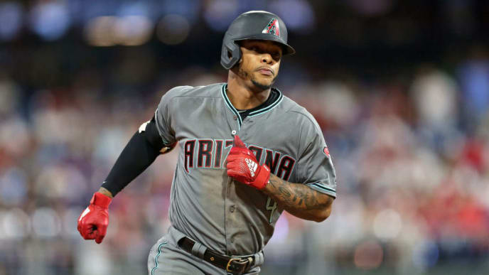 PHILADELPHIA, PA - JUNE 11: Ketel Marte #4 of the Arizona Diamondbacks hits a solo home run in the seventh inning during a game against the Philadelphia Phillies at Citizens Bank Park on June 11, 2019 in Philadelphia, Pennsylvania. The Phillies defeated the Diamondbacks 7-4. (Photo by Hunter Martin/Getty Images)