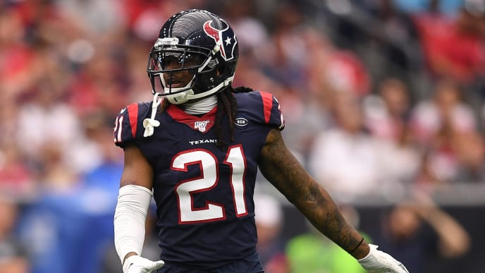 HOUSTON, TEXAS - OCTOBER 06: Bradley Roby #21 of the Houston Texans in action in the fourth quarter against the Atlanta Falcons at NRG Stadium on October 06, 2019 in Houston, Texas. (Photo by Mark Brown/Getty Images)
