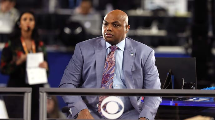 MINNEAPOLIS, MINNESOTA - APRIL 06: CBS commentator Charles Barkley looks on during the 2019 NCAA Final Four semifinal between the Auburn Tigers and the Virginia Cavaliers at U.S. Bank Stadium on April 6, 2019 in Minneapolis, Minnesota. (Photo by Streeter Lecka/Getty Images)