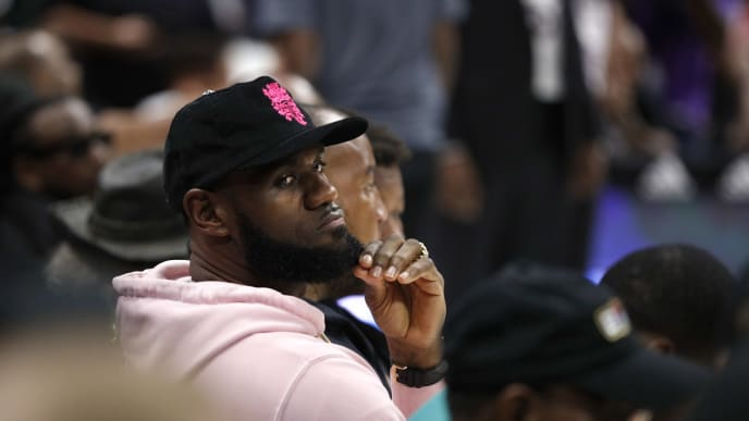 LOS ANGELES, CALIFORNIA - SEPTEMBER 01: LeBron James attends the BIG3 Championship at Staples Center on September 01, 2019 in Los Angeles, California. (Photo by Meg Oliphant/BIG3 via Getty Images)