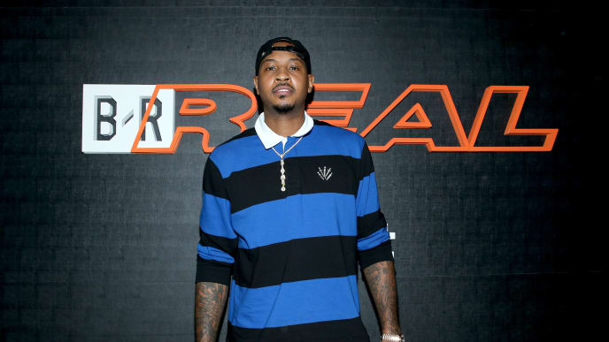 WEST HOLLYWOOD, CA - OCTOBER 19:  NBA player Carmelo Anthony attends the B/Real Premiere Event at Kimpton La Peer Hotel on October 19, 2018 in West Hollywood, California.  (Photo by Phillip Faraone/Getty Images for Bleacher Report)