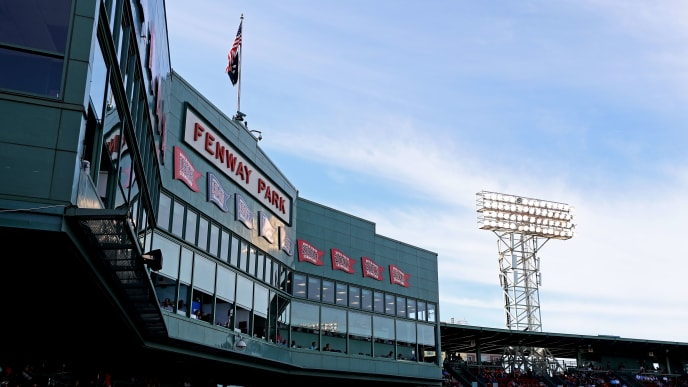 BOSTON, MASSACHUSETTS - SEPTEMBER 29: A general view of the Fenway Park sign and grandstand during the second inning of the game between the Boston Red Sox and the Baltimore Orioles at Fenway Park on September 29, 2019 in Boston, Massachusetts. (Photo by Maddie Meyer/Getty Images)