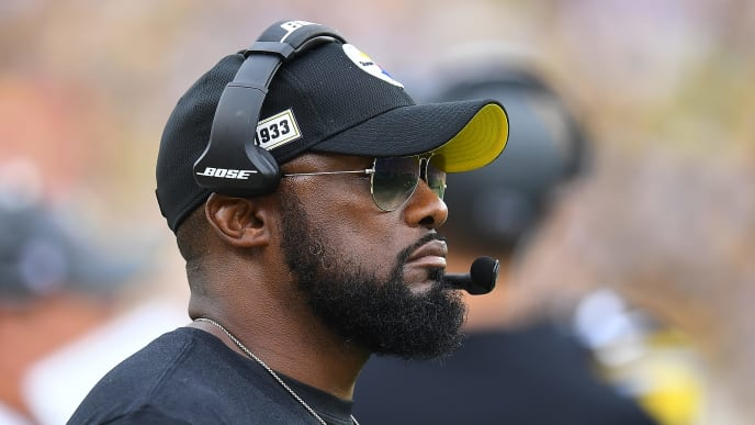 PITTSBURGH, PA - OCTOBER 06:  Head coach Mike Tomlin of the Pittsburgh Steelers looks on during the second quarter against the Baltimore Ravens at Heinz Field on October 6, 2019 in Pittsburgh, Pennsylvania. (Photo by Joe Sargent/Getty Images)