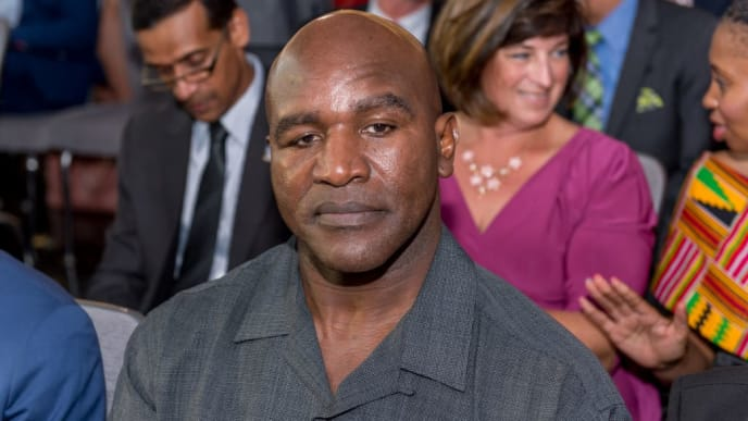 NEW YORK, NY - JULY 26:  Evander Holyfield attends the Beyond Sport Global Awards on July 26, 2017 in New York City.  (Photo by Roy Rochlin/Getty Images)