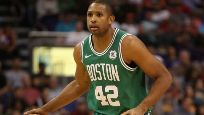 PHOENIX, AZ - NOVEMBER 08:  Al Horford #42 of the Boston Celtics handles the ball during the NBA game against the Phoenix Suns at Talking Stick Resort Arena on November 8, 2018 in Phoenix, Arizona. The Celtics defeated the Suns 116-109 in overtime.  NOTE TO USER: User expressly acknowledges and agrees that, by downloading and or using this photograph, User is consenting to the terms and conditions of the Getty Images License Agreement.  (Photo by Christian Petersen/Getty Images)