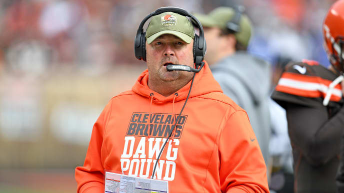 CLEVELAND, OHIO - NOVEMBER 10: Head coach Freddie Kitchens of the Cleveland Browns on the sidelines during the first half against the Buffalo Bills at FirstEnergy Stadium on November 10, 2019 in Cleveland, Ohio. (Photo by Jason Miller/Getty Images)