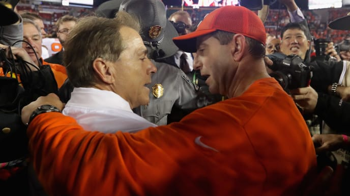 College Football Playoff Odds Favor Clemson With Alabama