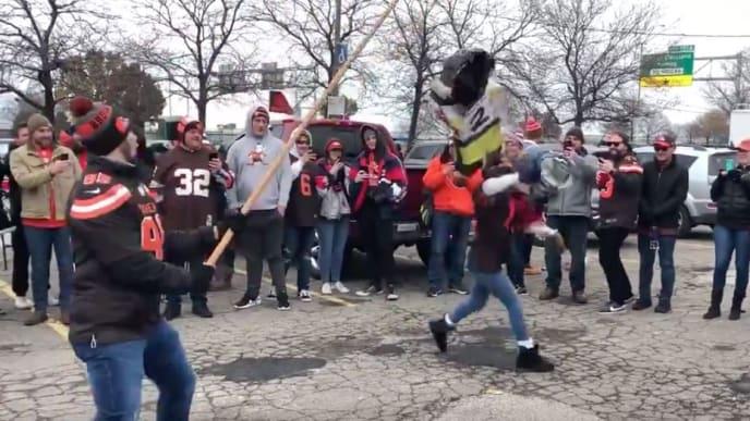 Los fanáticos de los Browns fueron la vergüenza de la NFL