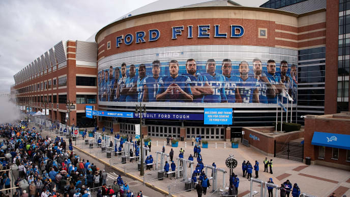 DETROIT, MI - NOVEMBER 28: A general view of Ford Field prior to the start of the game between the Chicago Bears and the Detroit Lions on November 28, 2019 in Detroit, Michigan. (Photo by Leon Halip/Getty Images)