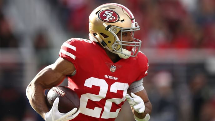 SANTA CLARA, CA - DECEMBER 23: Matt Breida #22 of the San Francisco 49ers rushes with the ball against the Chicago Bears during their NFL game at Levi's Stadium on December 23, 2018 in Santa Clara, California. (Photo by Ezra Shaw/Getty Images)