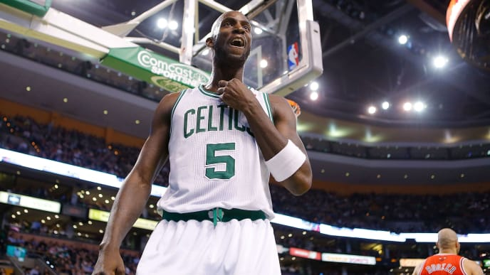 Kevin Garnett's first season with the Boston Celtics ended with the 2008 NBA title.