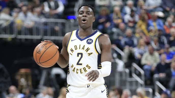 INDIANAPOLIS, INDIANA - MARCH 05:  Darren Collison #2 of the  Indiana Pacers dribbles the ball against the Chicago Bulls at Bankers Life Fieldhouse on March 05, 2019 in Indianapolis, Indiana. (Photo by Andy Lyons/Getty Images)