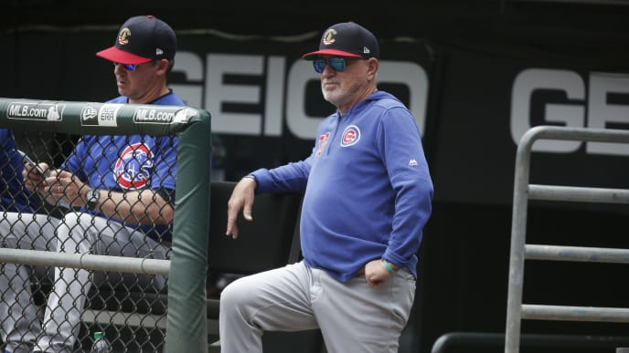 CHICAGO, ILLINOIS - JULY 07: Chicago Cubs manager Joe Maddon #70 during the game against the Chicago White Sox  at Guaranteed Rate Field on July 07, 2019 in Chicago, Illinois. (Photo by Nuccio DiNuzzo/Getty Images)