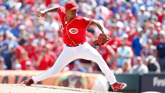 CINCINNATI, OH - JUNE 24:  Raisel Iglesias #26 of the Cincinnati Reds throws a pitch during the ninth inning of the game against the Chicago Cubs at Great American Ball Park on June 24, 2018 in Cincinnati, Ohio. Cincinnati defeated Chicago 8-6. (Photo by Kirk Irwin/Getty Images)