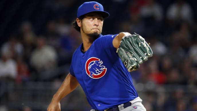 PITTSBURGH, PA - JULY 03:  Yu Darvish #11 of the Chicago Cubs pitches in the sixth inning against the Pittsburgh Pirates at PNC Park on July 3, 2019 in Pittsburgh, Pennsylvania.  (Photo by Justin K. Aller/Getty Images)
