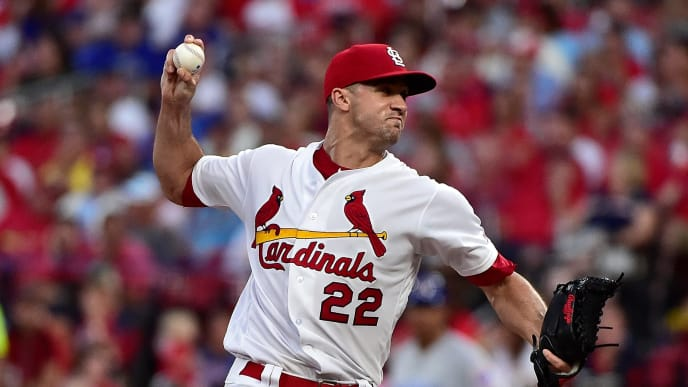 ST LOUIS, MO - AUGUST 01: Jack Flaherty #22 of the St. Louis Cardinals pitches during the sixth inning against the Chicago Cubs at Busch Stadium on August 1, 2019 in St Louis, Missouri. (Photo by Jeff Curry/Getty Images)