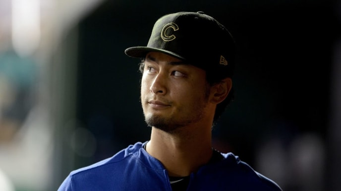 WASHINGTON, DC - MAY 17: Yu Darvish #11 of the Chicago Cubs watches the game in the sixth inning against the Washington Nationals at Nationals Park on May 17, 2019 in Washington, DC.  (Photo by Greg Fiume/Getty Images)