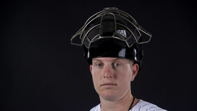 GLENDALE, AZ - FEBRUARY 21: Zack Collins #86 of the Chicago White Sox poses during MLB Photo Day on February 21, 2018 in Glendale, Arizona. (Photo by Jamie Schwaberow/Getty Images)