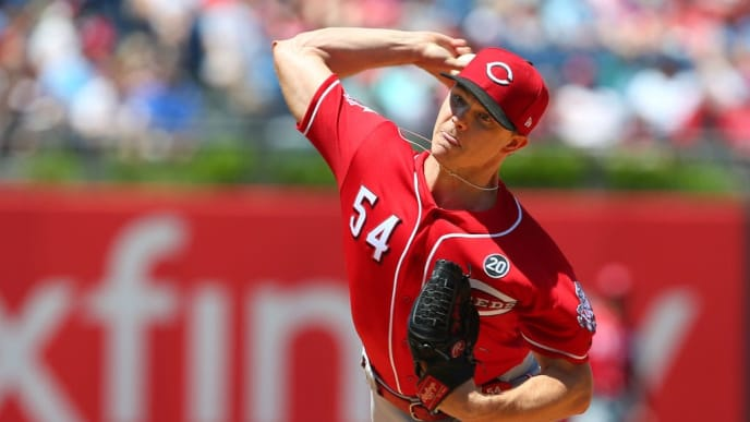 PHILADELPHIA, PA - JUNE 09: Pitcher Sonny Gray #54 of the Cincinnati Reds delivers a pitch against the Philadelphia Phillies during the third inning of a baseball game at Citizens Bank Park on June 9, 2019 in Philadelphia, Pennsylvania. The Reds defeated the Phillies 4-3. (Photo by Rich Schultz/Getty Images)
