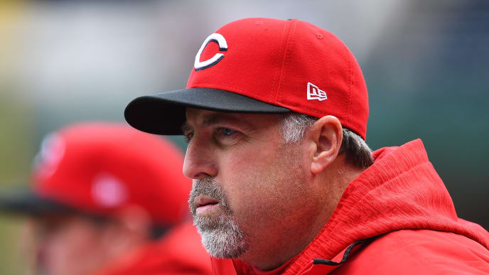PITTSBURGH, PA - APRIL 08:  Manager Bryan Price #38 of the Cincinnati Reds looks on during the game against the Pittsburgh Pirates at PNC Park on April 8, 2018 in Pittsburgh, Pennsylvania. (Photo by Joe Sargent/Getty Images)