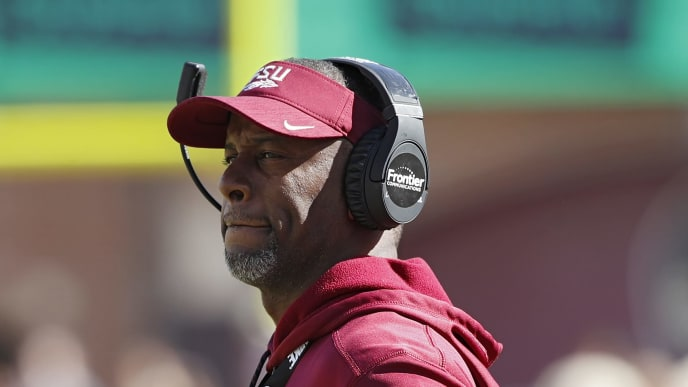 TALLAHASSEE, FL - OCTOBER 27: Head coach Willie Taggart of the Florida State Seminoles looks on in the third quarter of the game against the Clemson Tigers at Doak Campbell Stadium on October 27, 2018 in Tallahassee, Florida. (Photo by Joe Robbins/Getty Images)