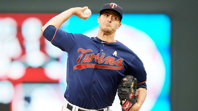 MINNEAPOLIS, MINNESOTA - SEPTEMBER 07: Jake Odorizzi #12 of the Minnesota Twins delivers a pitch against the Cleveland Indians during the game at Target Field on September 7, 2019 in Minneapolis, Minnesota. The Twins defeated the Indians 5-3. (Photo by Hannah Foslien/Getty Images)
