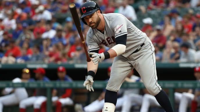 ARLINGTON, TEXAS - JUNE 19:  Jason Kipnis #22 of the Cleveland Indians at Globe Life Park in Arlington on June 19, 2019 in Arlington, Texas. (Photo by Ronald Martinez/Getty Images)