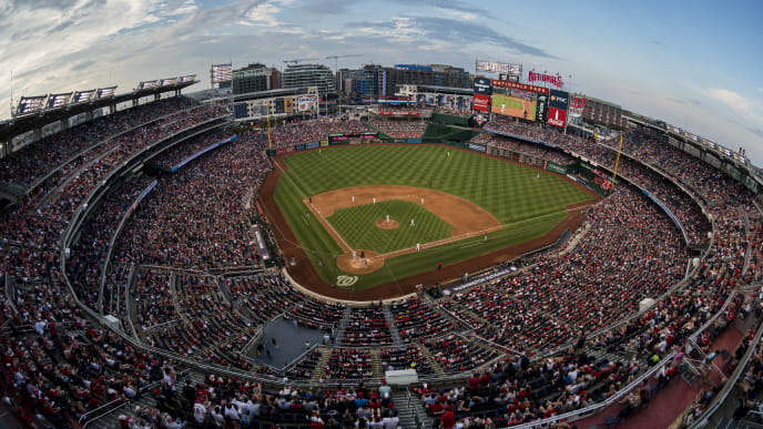 WASHINGTON, DC - SEPTEMBER 28: A general view of the stadium during the fifth inning of the game between the Washington Nationals and the Cleveland Indians at Nationals Park on September 28, 2019 in Washington, DC. (Photo by Scott Taetsch/Getty Images)