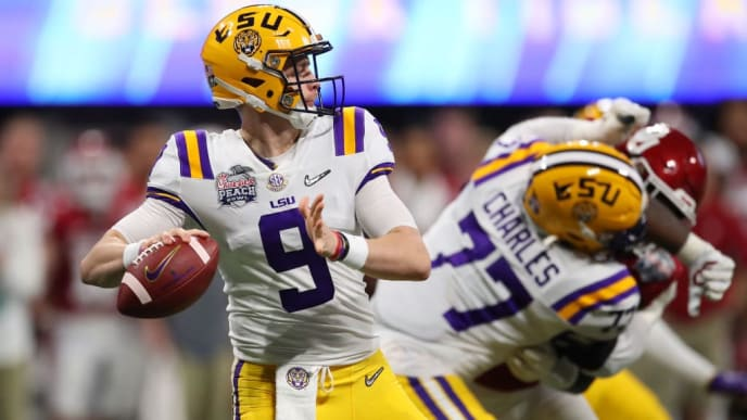 Joe Burrow threw seven touchdowns against Oklahoma.
