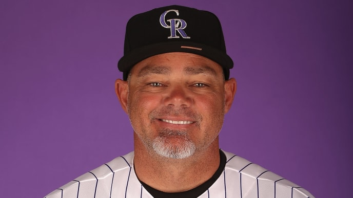 SCOTTSDALE, AZ - FEBRUARY 21:  Coach Dante Bichette #10 of the Colorado Rockies poses for a portrait during spring training photo day at Salt River Fields at Talking Stick on February 21, 2013 in Scottsdale, Arizona.  (Photo by Christian Petersen/Getty Images)