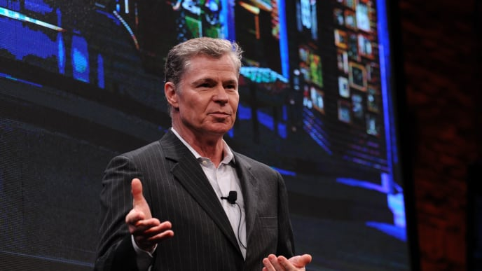 NEW YORK, NY - APRIL 30:  Dan Patrick speaks at the Crackle NewFronts at Cedar Lake Studios on April 30, 2014 in New York City.  (Photo by Bryan Bedder/Getty Images for Sony Pictures Television)