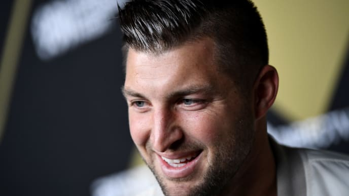 ATLANTA, GA - FEBRUARY 02:  Tim Tebow attends DIRECTV Super Saturday Night 2019 at Atlantic Station on February 2, 2019 in Atlanta, Georgia.  (Photo by Dimitrios Kambouris/Getty Images for DIRECTV)