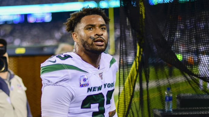 EAST RUTHERFORD, NEW JERSEY - OCTOBER 13:  Jamal Adams #33 of the New York Jets walks off the field following his teams 24-22 win over the Dallas Cowboys at MetLife Stadium on October 13, 2019 in East Rutherford, New Jersey. (Photo by Steven Ryan/Getty Images)