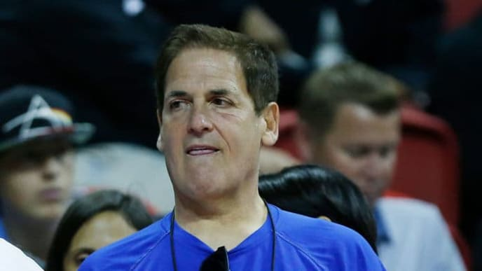 LAS VEGAS, NEVADA - JULY 08:  Owner Mark Cuban of the Dallas Mavericks looks on against the Sacramento Kings during the 2019 Summer League at the Thomas & Mack Center on July 08, 2019 in Las Vegas, Nevada. NOTE TO USER: User expressly acknowledges and agrees that, by downloading and or using this photograph, User is consenting to the terms and conditions of the Getty Images License Agreement. (Photo by Michael Reaves/Getty Images)