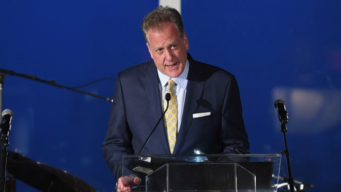 NEW YORK, NEW YORK - JUNE 19: Michael Kay attends David Cone's 20th Anniversary of the Perfect Game on June 19, 2019 in New York City. (Photo by Dimitrios Kambouris/Getty Images for The David Cone Foundation Gala)