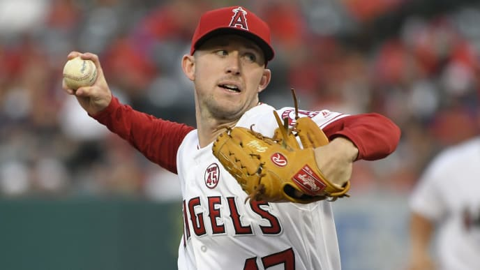 ANAHEIM, CA - JULY 30: Griffin Canning #47 of the Los Angeles Angels of Anaheim pitches in the second inning against the Detroit Tigers at Angel Stadium of Anaheim on July 30, 2019 in Anaheim, California. (Photo by John McCoy/Getty Images)