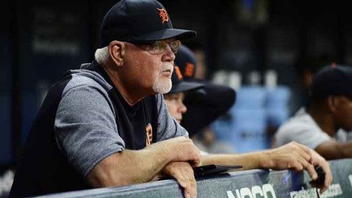 ST. PETERSBURG, FLORIDA - AUGUST 17: Manager Ron Gardenhire #15 of the Detroit Tigers looks on during the fourth inning of a baseball game against the Tampa Bay Rays at Tropicana Field on August 17, 2019 in St. Petersburg, Florida. (Photo by Julio Aguilar/Getty Images)