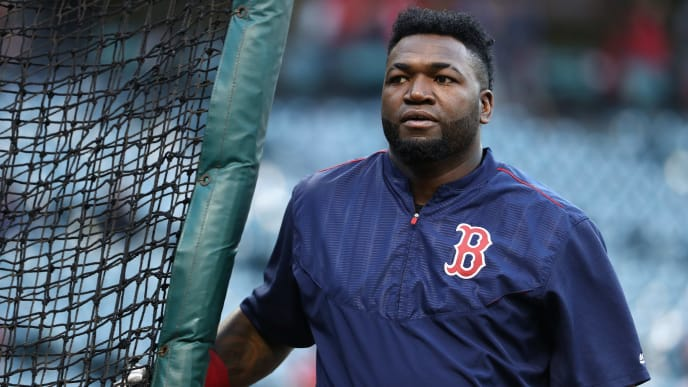 CLEVELAND, OH - OCTOBER 06:  David Ortiz #34 of the Boston Red Sox looks on prior to game one of the American League Divison Series against the Cleveland Indians at Progressive Field on October 6, 2016 in Cleveland, Ohio.  (Photo by Maddie Meyer/Getty Images)