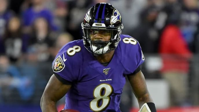 This photo of Lamar Jackson would make for a decent Madden 21 cover.
