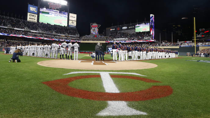 MINNEAPOLIS, MINNESOTA - OCTOBER 07: A general view prior to game three of the American League Division Series between the New York Yankees and the Minnesota Twins at Target Field on October 07, 2019 in Minneapolis, Minnesota. (Photo by Elsa/Getty Images)