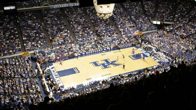 LEXINGTON, KY - MARCH 05:  Rupp Arena is pictured during the game between the Kentucky Wildcats and the Florida Gators on March 5, 2005 in Lexington, Kentucky.  (Photo by Andy Lyons/Getty Images)